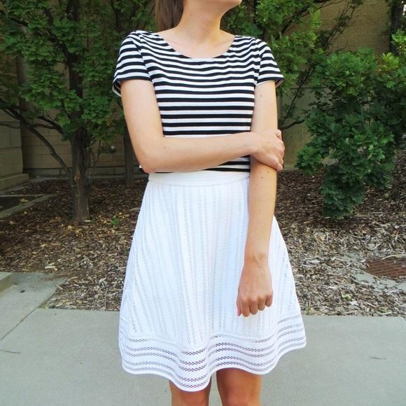 9189259e728 J.Crew white eyelet skirt size 12